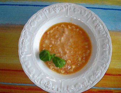Pasta e fagioli al profumo di basilico per vegetal monday