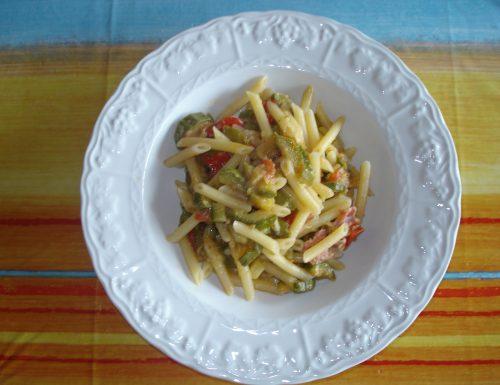 pennette alle zucchine con pancetta croccante