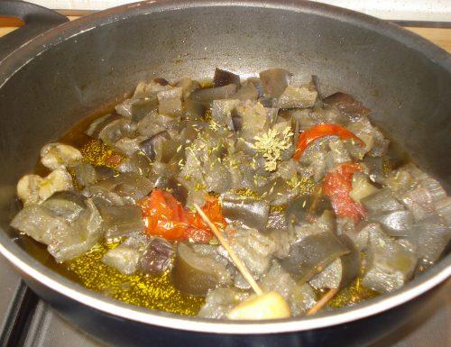 Melanzane a funghetti non fritte –  ricetta contorno