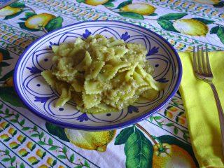 pasta al pesto di carciofi - ricetta primo