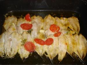 alici in tortiera al forno alla napoletana
