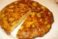 frittata di fettuccine con zucchine e patate