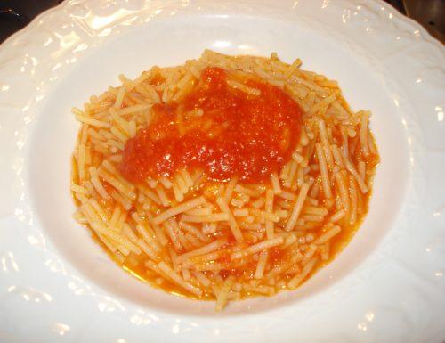 Gli spaghetti al pomodoro, come quelli di Peppa Pig
