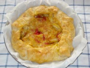 torta rustica con patate e peperoni