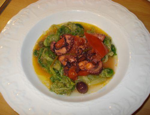 polpo con scarola – ricetta napoletana