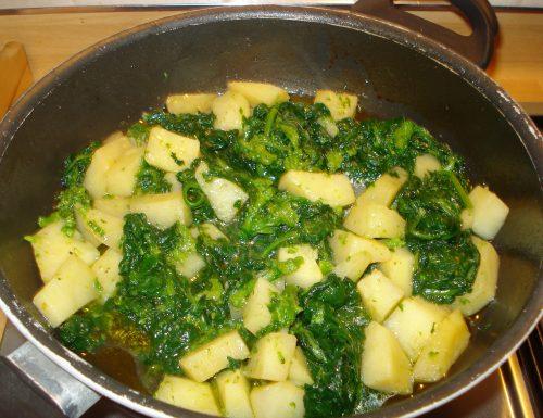 friarielli e patate in padella