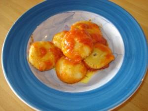 agnolotti con patate e carciofi