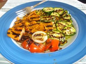 contorno di verdure miste grigliate