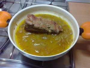 filetto di maiale in padella con lardo casertano