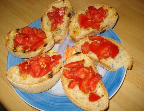bruschette al pomodoro e origano