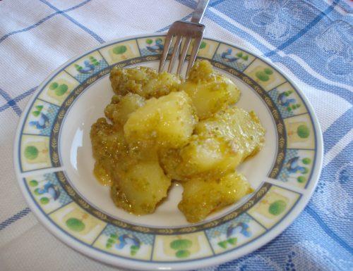 insalata cremosa di patate al pesto di zucchine