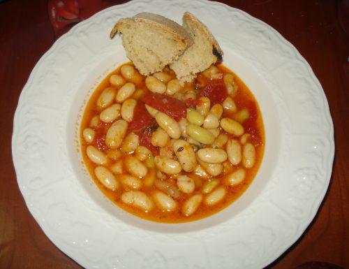 zuppa di fagioli spollichini