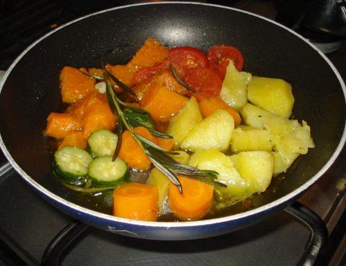 padellata di verdure autunnali allo zenzero