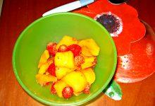dessert di nespole e fragoline