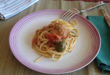 pasta alla crema di tonno olive e pomodorini