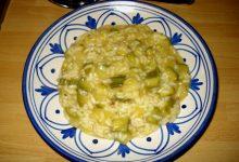 Risotto con patate e zucchine