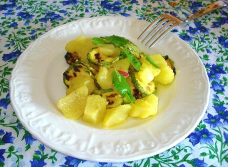 Insalata di patate e zucchine grigliate
