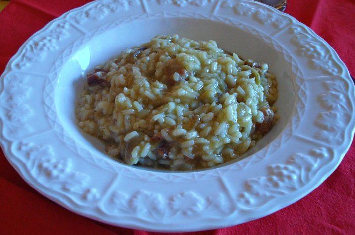 Risotto carciofi e salsiccia
