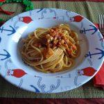 Spaghetti ai gamberi e coda di rospo