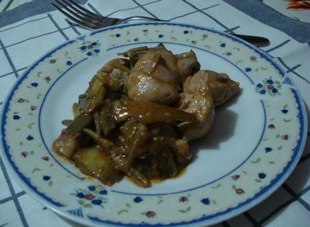 Spezzatino di pollo ai carciofi