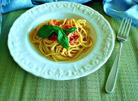 Spaghetti al pomodorino vesuviano e menta fresca