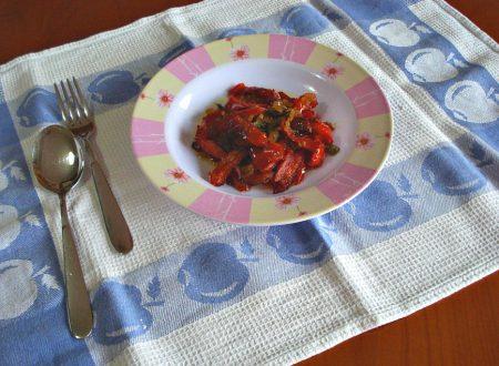 Peperoni ammollicati in padella