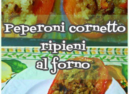 Peperoni cornetto ripieni al forno