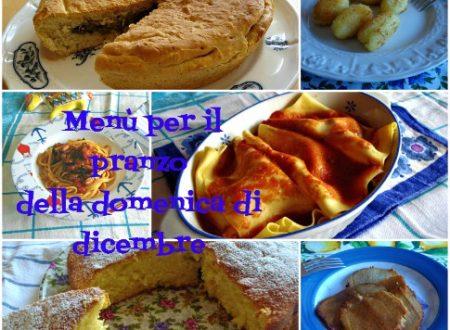 Menù per il pranzo della domenica di dicembre