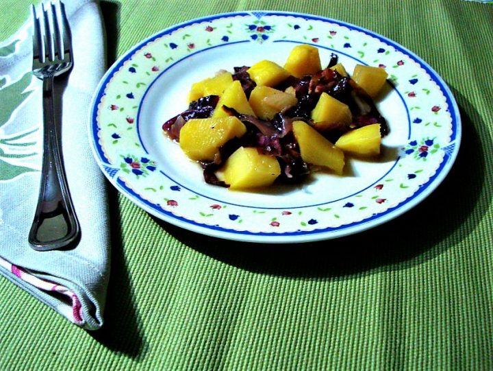 radicchio e patate alla genovese