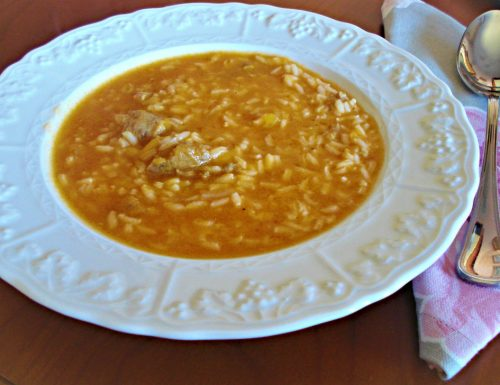Minestra di riso zucca e salsiccia