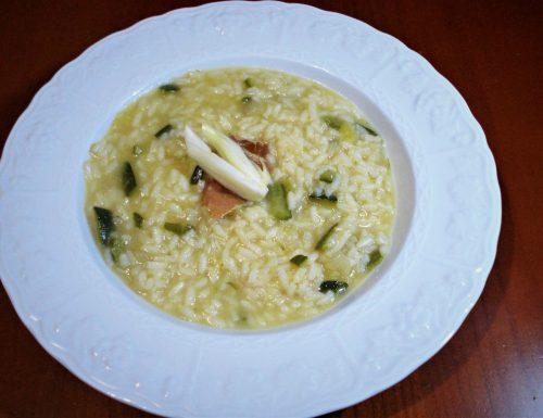 Risotto con finocchi zucchine e crudo di Parma