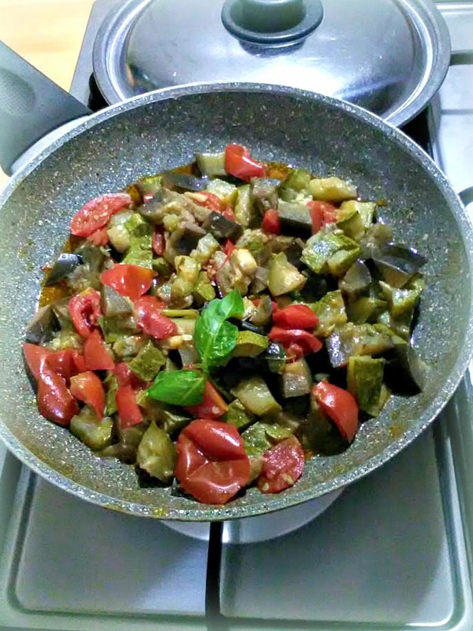Melanzane e zucchine a funghetto non fritte