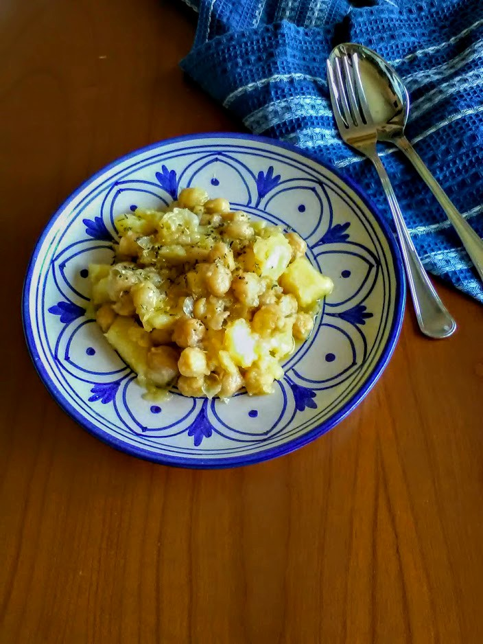 insalata di ceci e patate all'origano