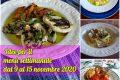 Idee per il menù settimanale dal 9 al 15 novembre 2020