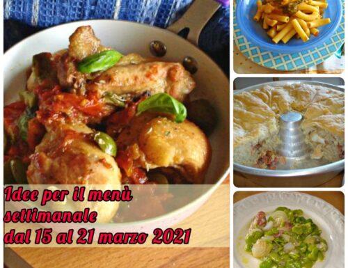 Idee per il menù settimanale dal 15 al 21 marzo 2021