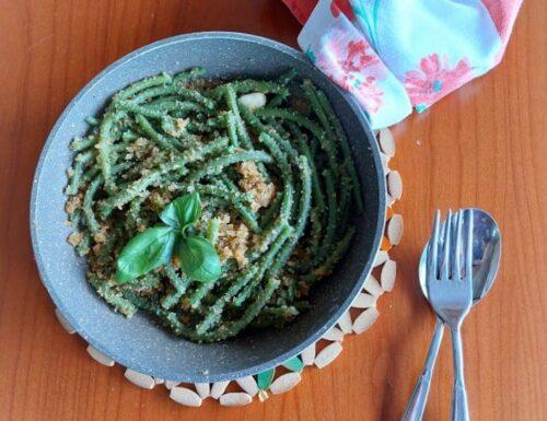 Fagiolini ammollicati al pangrattato e basilico