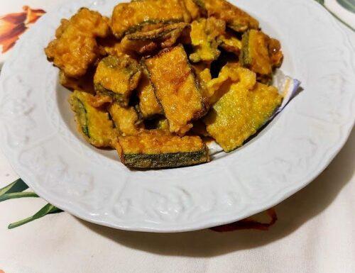 Zucchine indorate e fritte