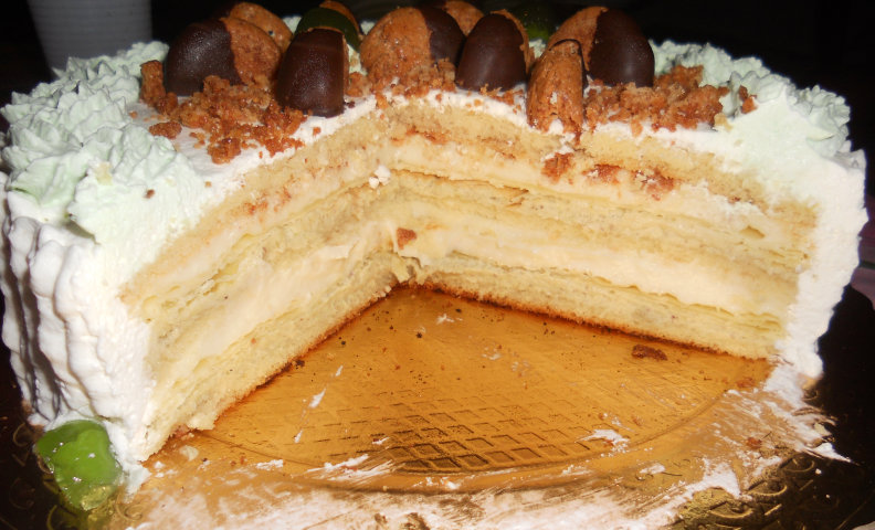 Torta millefoglie cuore siciliano for Decorazione torte millefoglie