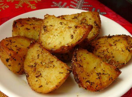 Patate al forno aglio e rosmarino