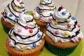 Cupcakes alla vaniglia colorati