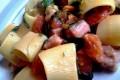 Mezze maniche tonno pomodorini e rucola