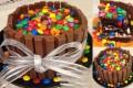 Torta Smarties e Kit Kat