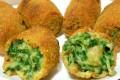 Crocchette di spinaci con cuore filante