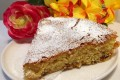 Torta campagnola con olio di semi e uvetta