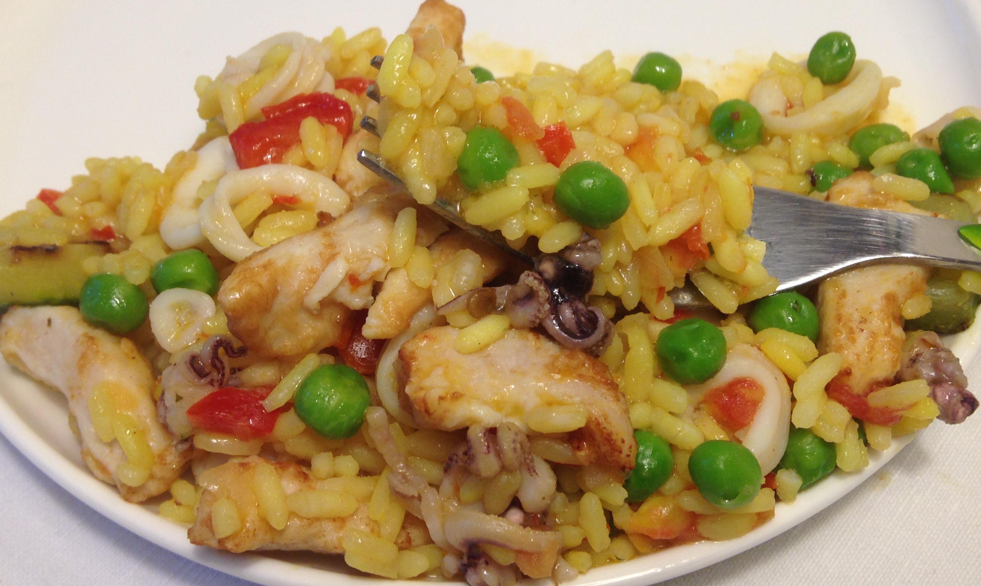 Paella pesce ricetta veloce