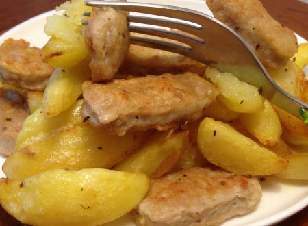 Bocconcini di pollo croccanti con patate