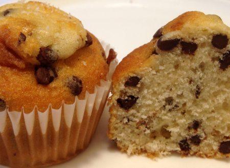 Muffin cocco e gocce di cioccolato