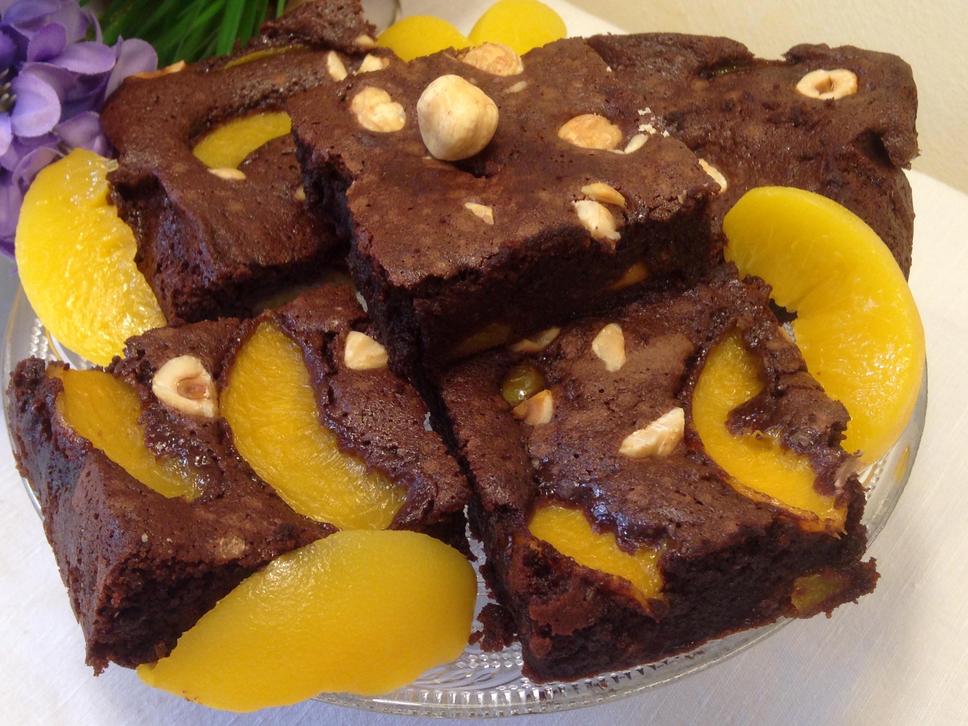 Torta morbida di pesche e amaretti (SENZA FARINA ricetta VELOCE)