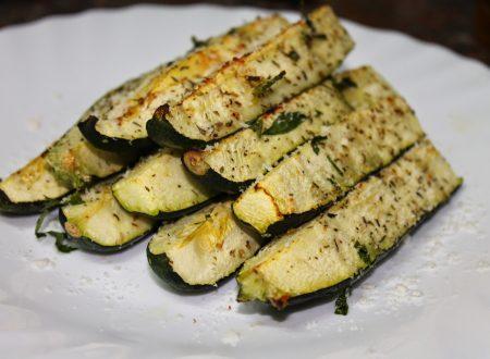 Stick di zucchine croccanti alle erbe aromatiche