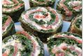 Rotolo di spinaci con salmone affumicato e philadelphia